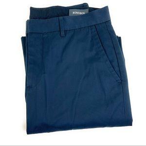 32x34 Bonobos Monday Navy Trousers Straight
